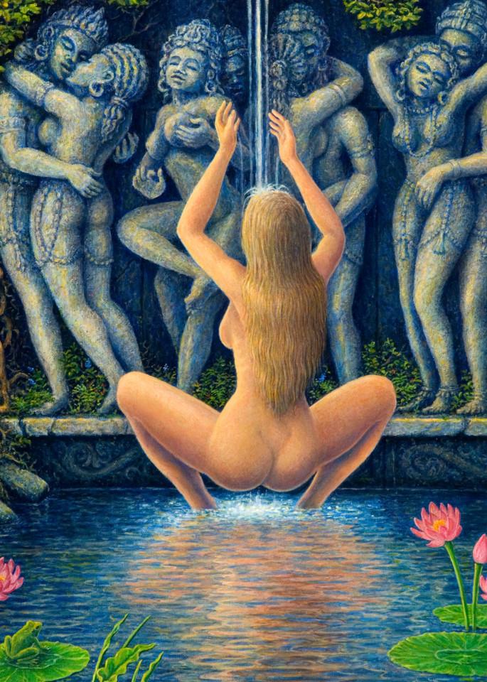 Lotus Pond Custom Print Art   markhensonart