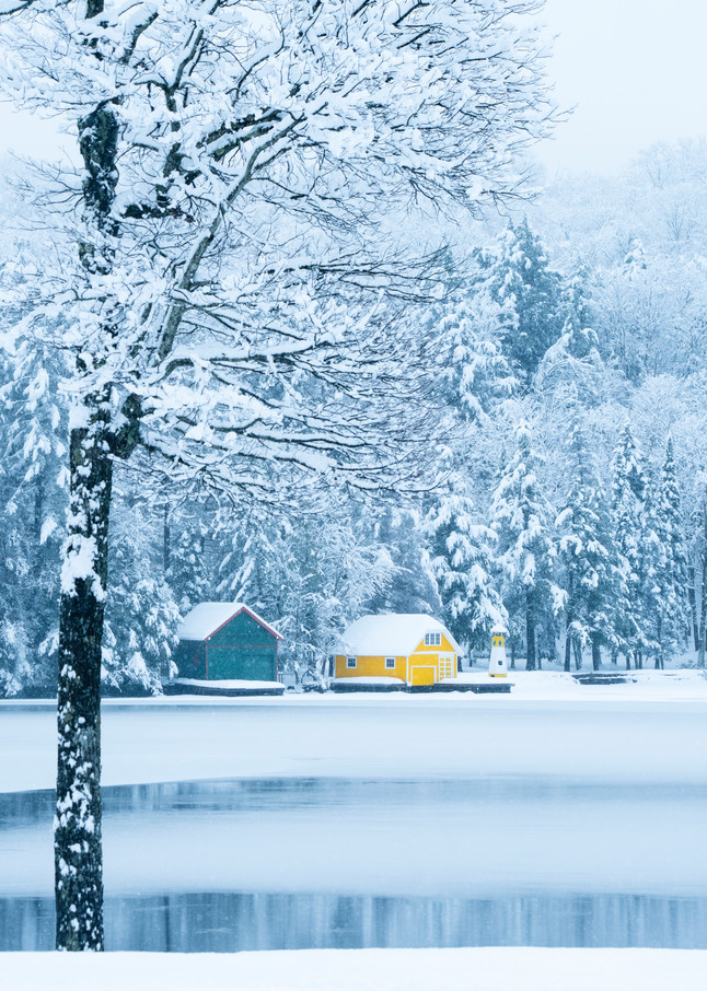 Old forge, Pond, Winter,