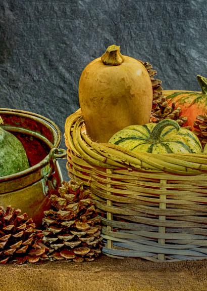 A Fine Art Photograph of Romantic Fruit Baskets by Michael Pucciarelli