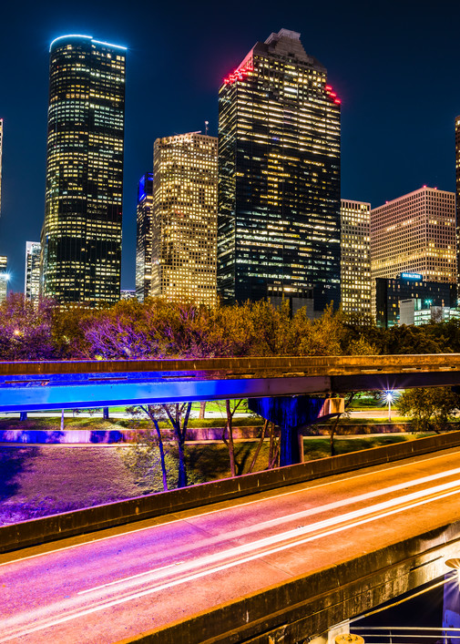 Houston skyline from I-45 photography