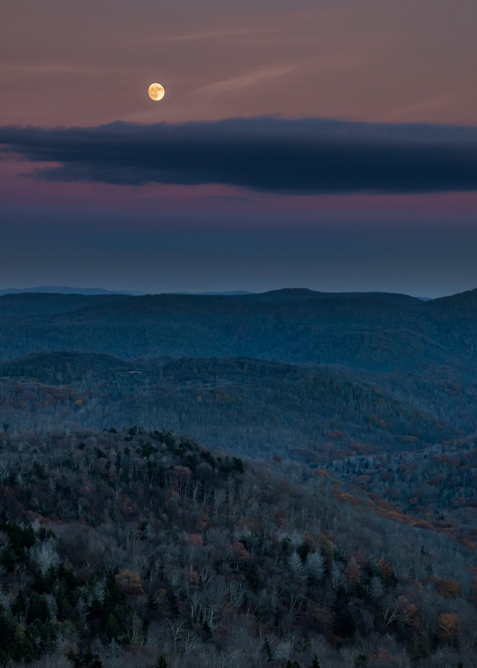 Moon Over The Monongahela National Forest Photography Art | Andy Crawford Photography - Fine-art photography