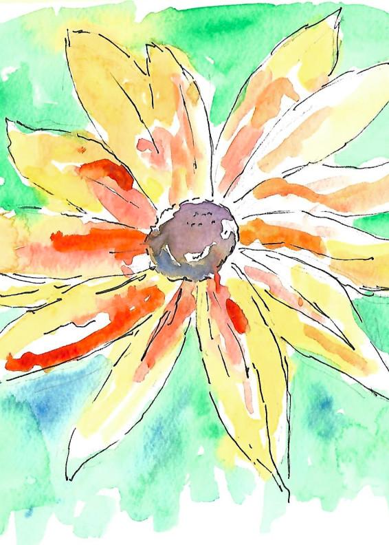 Matt Pierson Artworks   Orange Yellow Flower