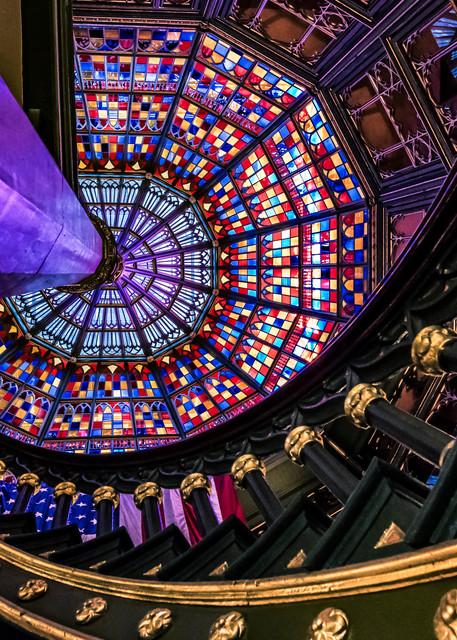 Louisiana State Capitol kaleidoscope photography