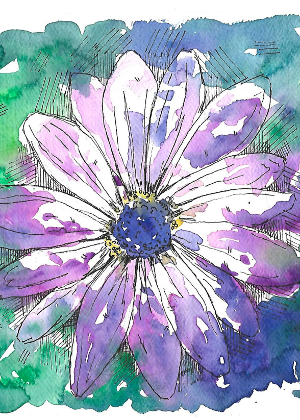 Matt Pierson Artworks | Purple Flower No.3