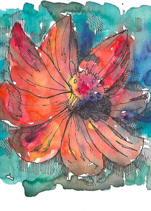 Matt Pierson Artworks | Orange Flower