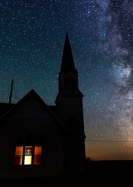 Old Church and Milky Way