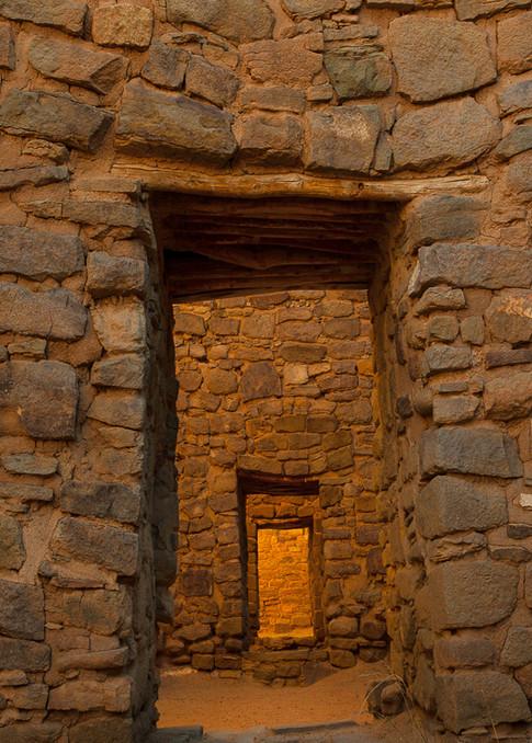 Aztec Doorway Pano Photo Print