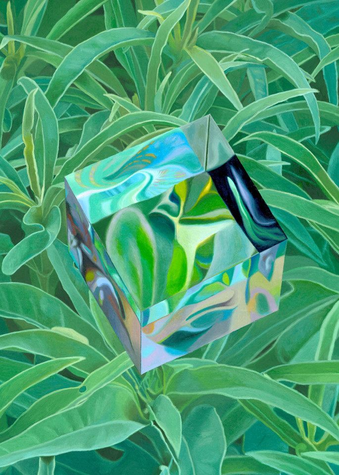 Cube/Earth, Geometric Painting, The Art of Max Voss-Nester