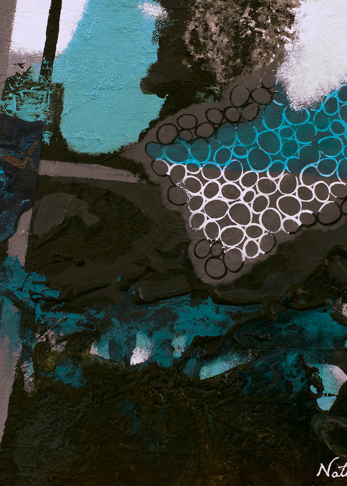 Cool colors abstract painting titled Blue