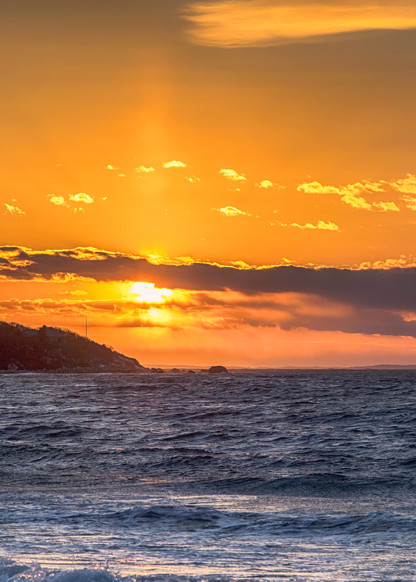 Lambert S Cove Winter Sunset Art | Michael Blanchard Inspirational Photography - Crossroads Gallery