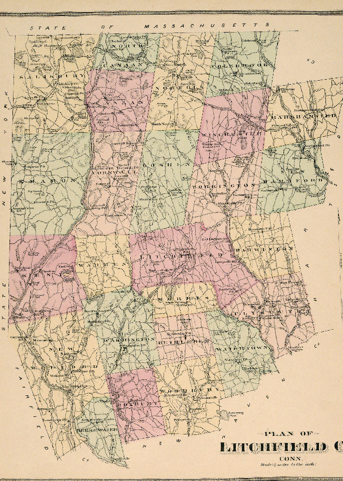 Map of Litchfield, CT