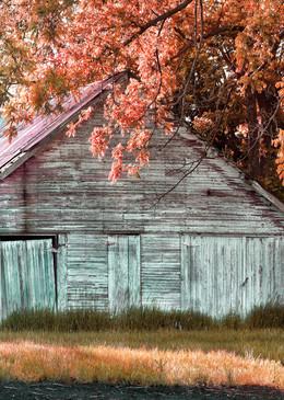 Americana color photograph: Outbuilding on 21st street, by fine art photographer, David Zlotky