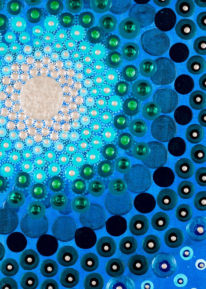 Vibrant Blue Print