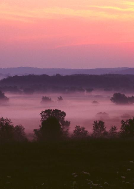 Sunrise and Fog photograph for sale as Fine Art.