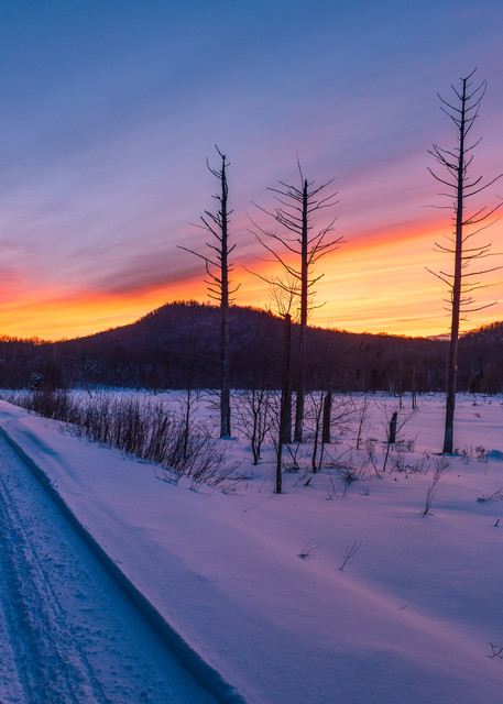 Snowmobile Trail On Rail Rd Tracts Photography Art | Kurt Gardner Photogarphy Gallery
