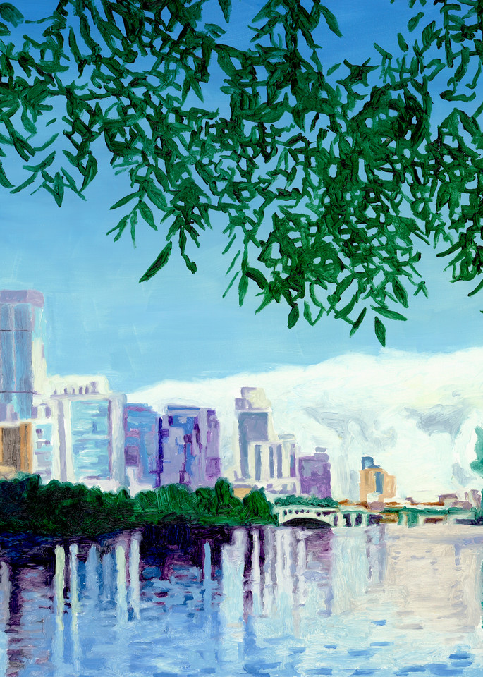 Skyline Pecan, Austin Art, The Art of Max Voss-Nester