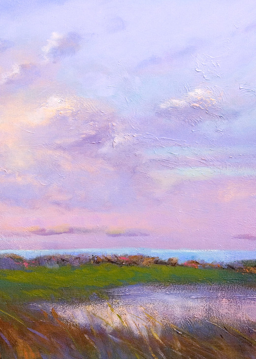 Pastel Clouds Painting Fine Art Print, Heart by Dorothy Fagan