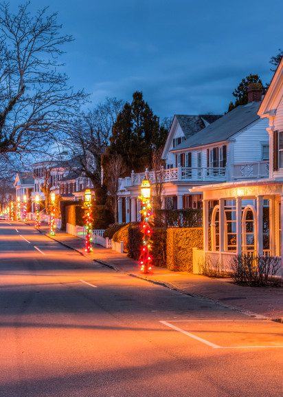 Edgartown North Water Street Christmas Art | Michael Blanchard Inspirational Photography - Crossroads Gallery