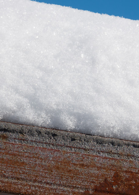 Complementary Layers: snow, rust, sky - shop prints | Closer Views