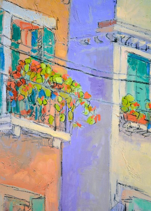 Italian Street Scene Painting, Art Print by Dorothy Fagan