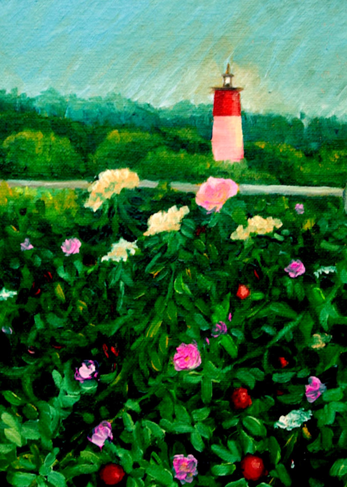 The lighthouse at dusk fine art print