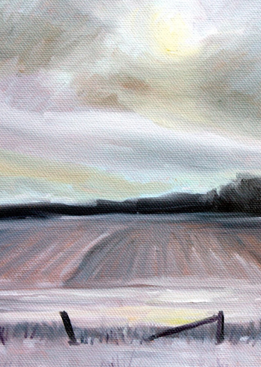 Afternoon solitude in January fine art print by Hilary J. England
