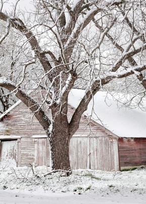 Americana color photograph: Sprint Snow, by  artist and fine art photographer, David Zlotky