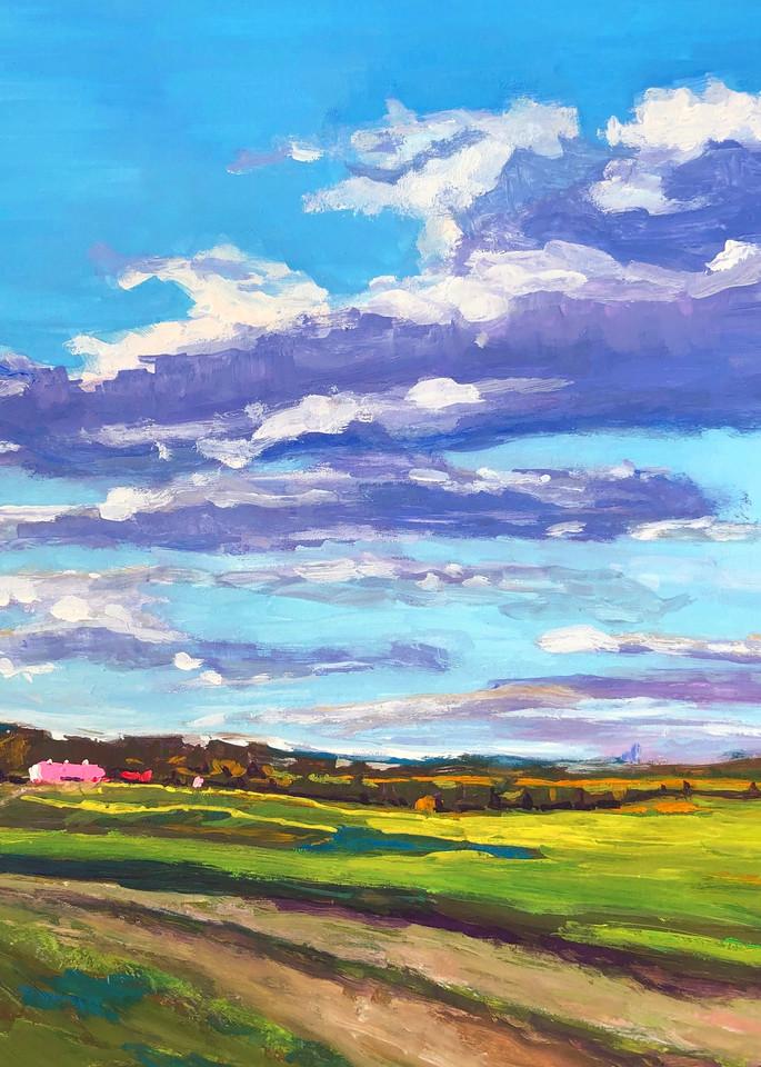Morning Glow in Rural Virginia | Fine Art Painting Print by Rick Osborn