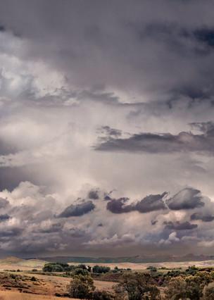 Storms Over the Prairie Collection - color | Ranch Land Thunderhead - color. Colorado thunderhead. Fine art photograph by David Zlotky.