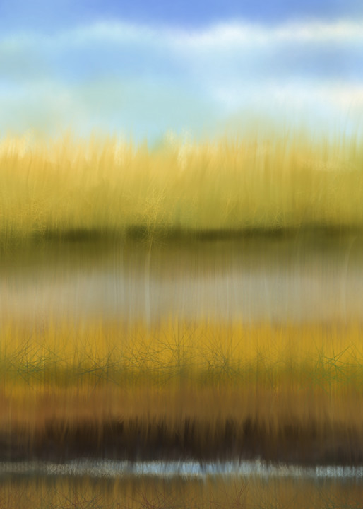 The Marsh, digital painting by Holly Whiting