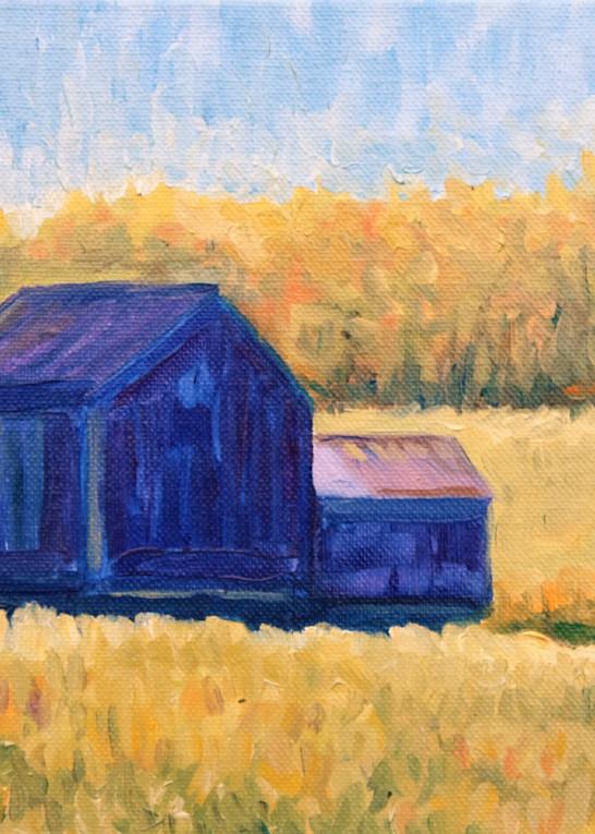 The blue barn in Kempton fine art print