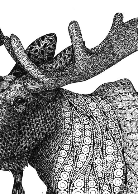 "Grande Moose Art | Kristin Moger ""Seriously Fun Art"""