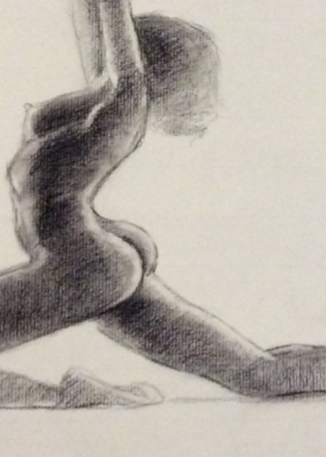 Study of African American Nude Fine Art Open Edition Print