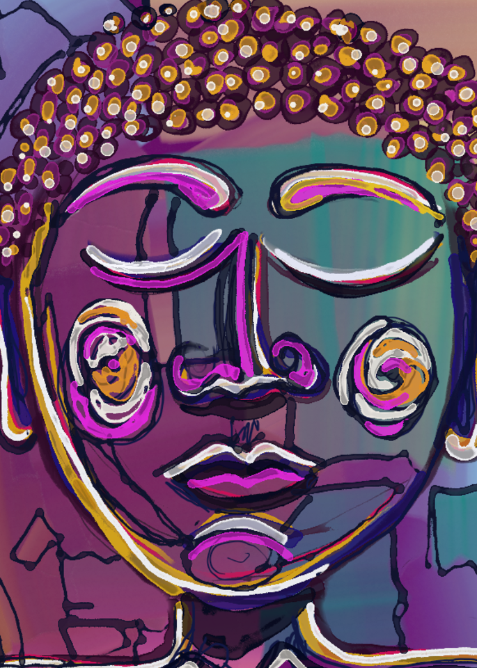 Abstract 14 Buddha Art | laineek