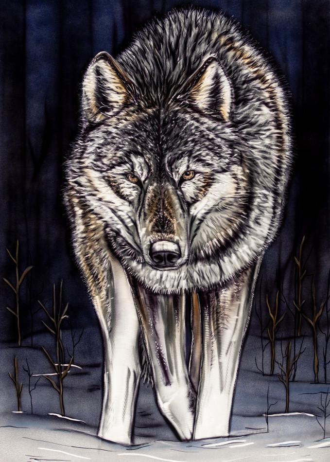 wolf, metal art, wildlife, airbrush, grinding