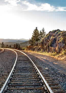 Americana Collection - color | Riding the Rails, Northern Colorado. Great railroad fine art photograph by David Zlotky.