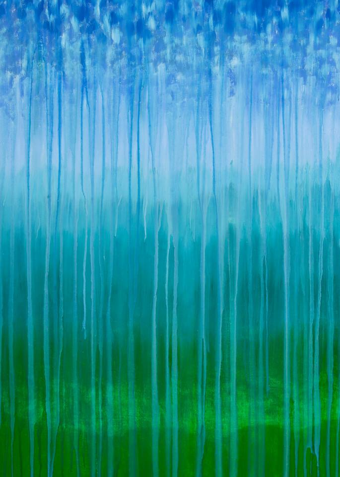Rainy Moment 08   Forested Mountains In Rain By Rachel Brask Art | Rachel Brask Studio, LLC