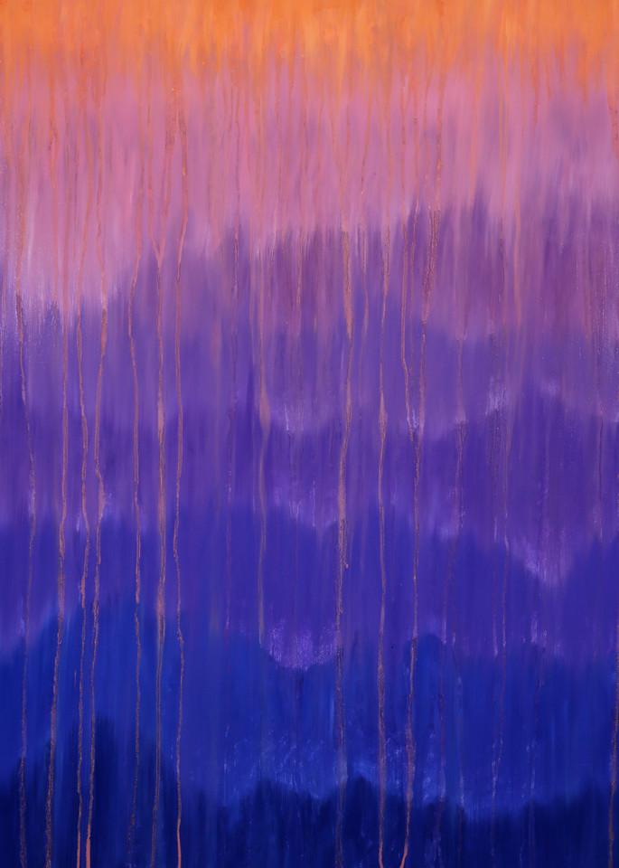 Rainy Moment 11   Misty Morning Mountain Rain Art | Rachel Brask Studio, LLC