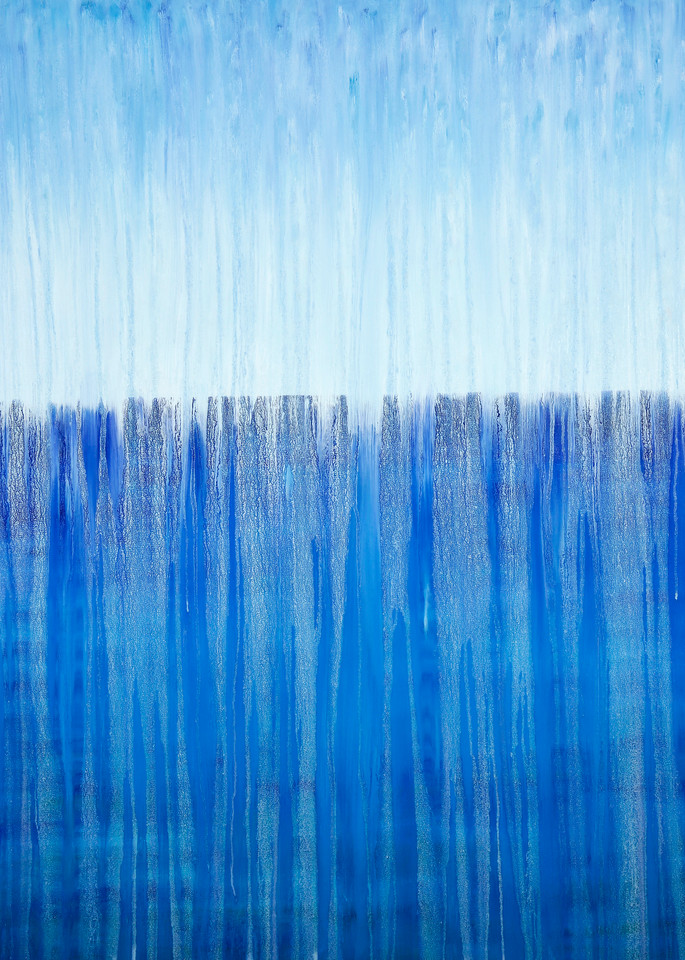 Rainy Moment 13   Open Ocean Rain By Rachel Brask Art   Rachel Brask Studio, LLC