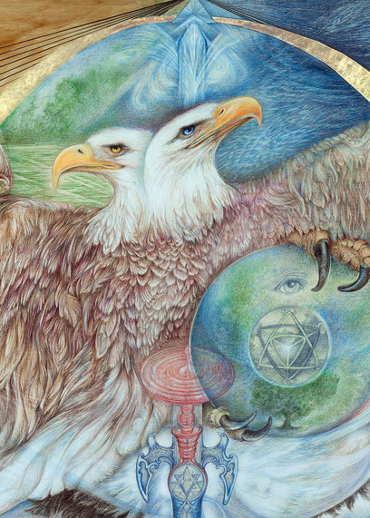 Double Headed  Eagle Art | Joan Marie Art