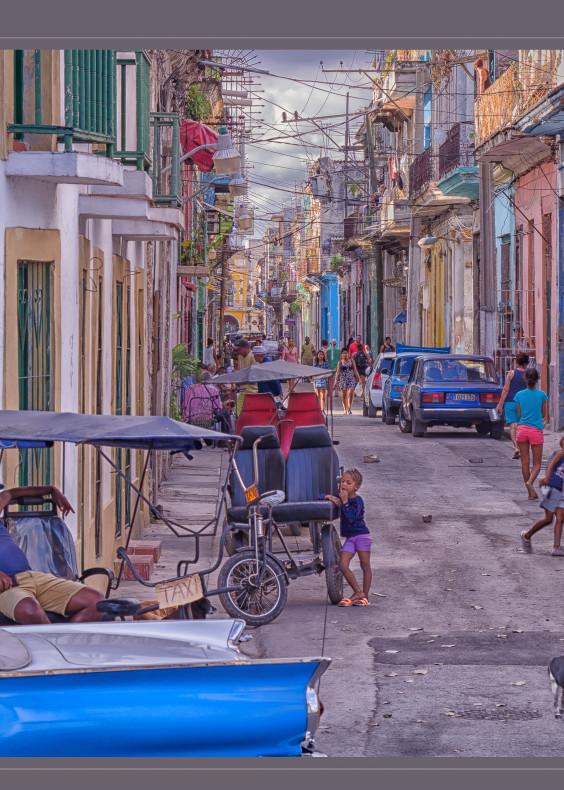 A street scene in Old Havana, Cuba