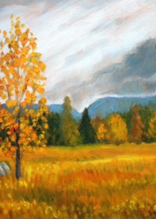 October on the range fine art print by Hilary J. England