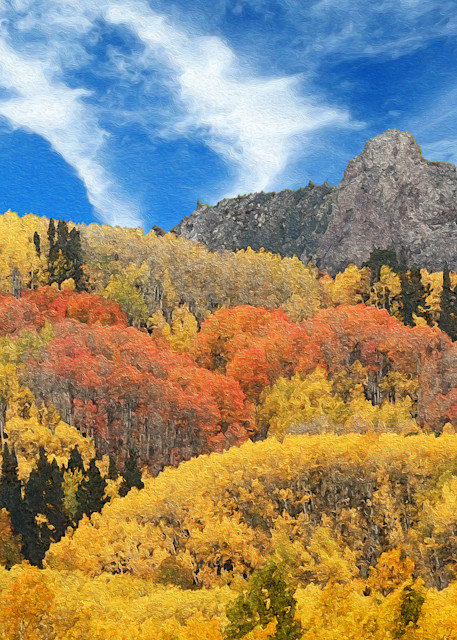 Aspen Fall in the Ruby Range print of photograph of Ruby Range, Colorado for sale as digital art by Maureen Wilks