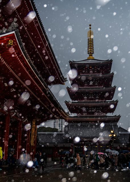 Sensoji in Snow