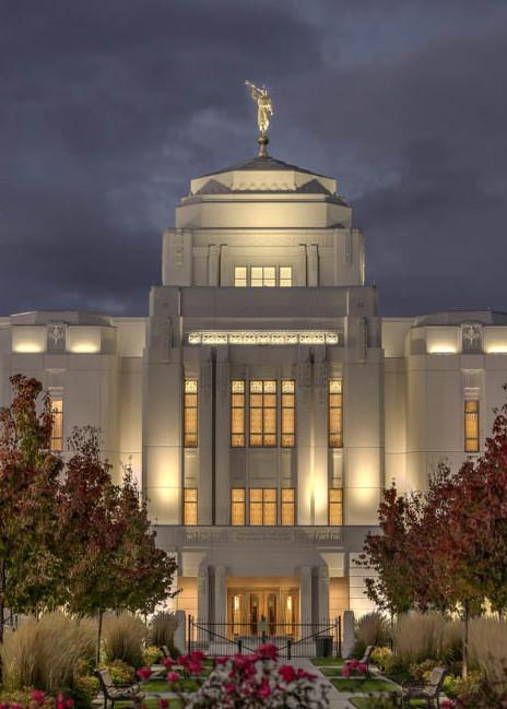 Meridian Temple - Night Lights