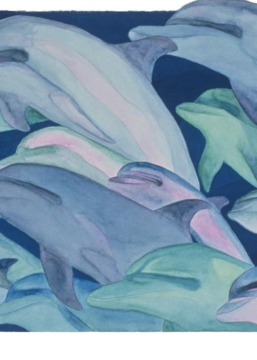 Color Rhythms Dolphin Giclee Prints by Dee Van Houten