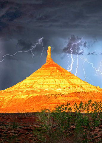 Thunderstorm at Six Shooter Peak