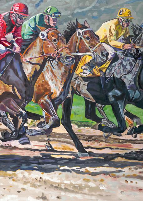 Tony Lipps Art Horse Race print
