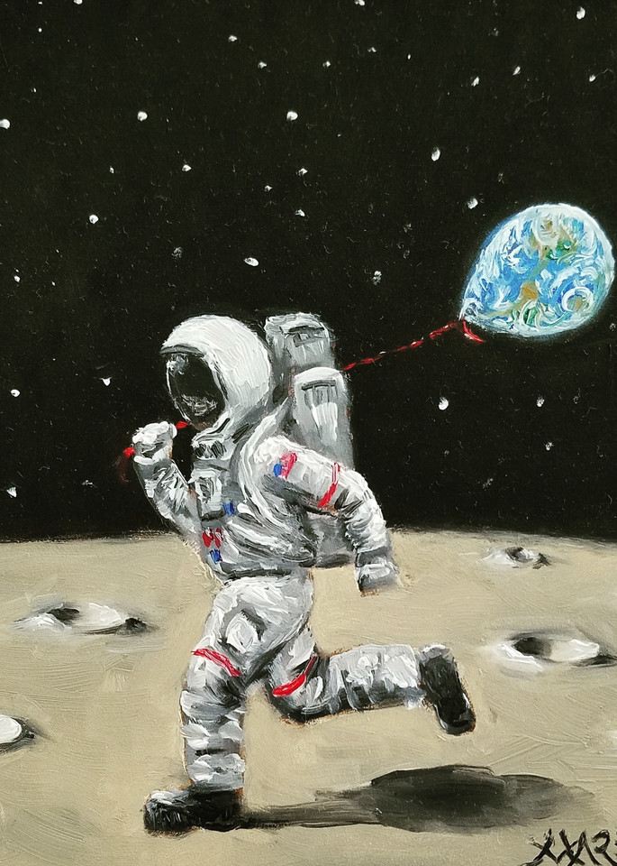 Astronaut at Play Fine Art Prints