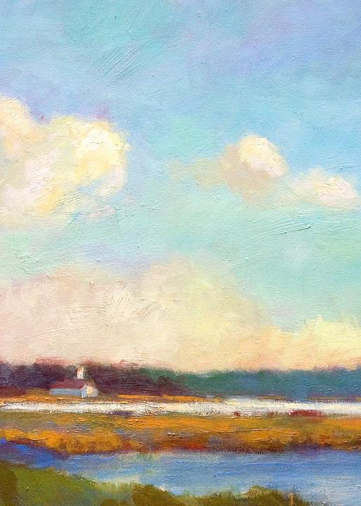 Nansemond River Painting, Fine Art Print, Evening Mystery by Dorothy Fagan